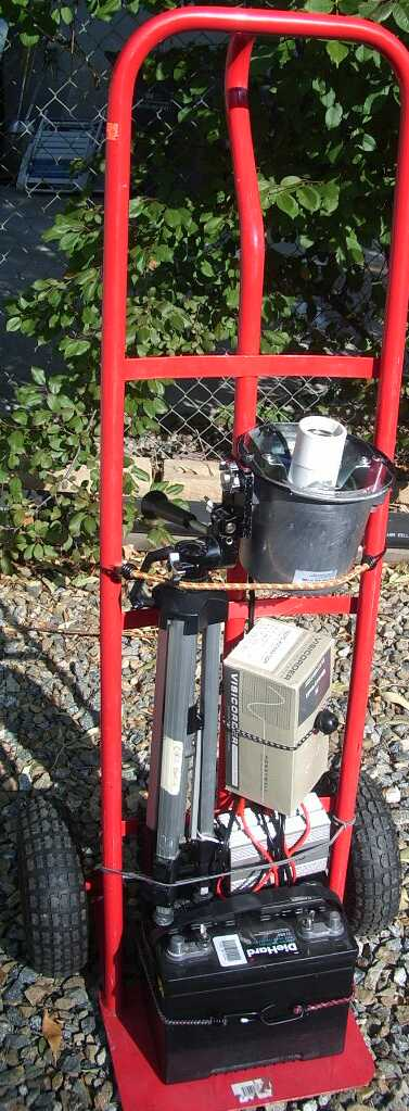 Portable mercury vapor insect collecting light project JCMDI.COM
